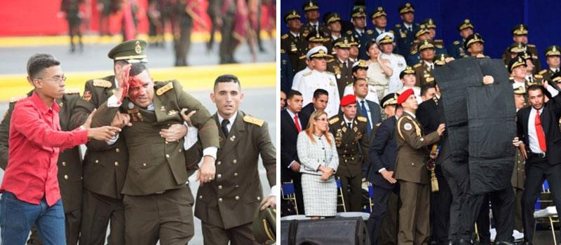 Image result for Atentado con drones acto presidido por el presidente nicolas maduro