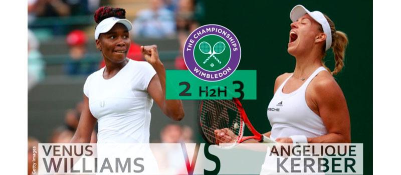 La alemana Angelique Kerber venció a Venus Williams con un marcador de 6-4 y 6-4.