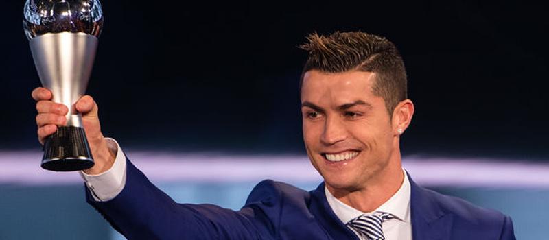 Cristiano Ronaldo en la entrega de The Best.