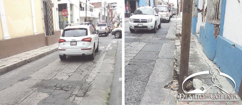 Es evidente el desinterés por parte del alcalde Héctor Insúa por mejorar la imagen de las calles; trata de aparentar una mejora pintando los problemas.