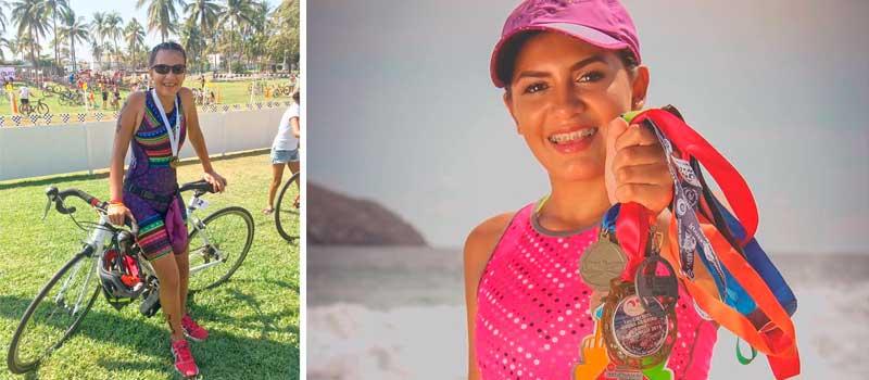 Para participar en el triatlón de Veracruz 2017, la atleta colimense Sasha Nizarindani Villaseñor Armenta, solicita apoyo a las autoridades deportivas del estado para asistir al evento.