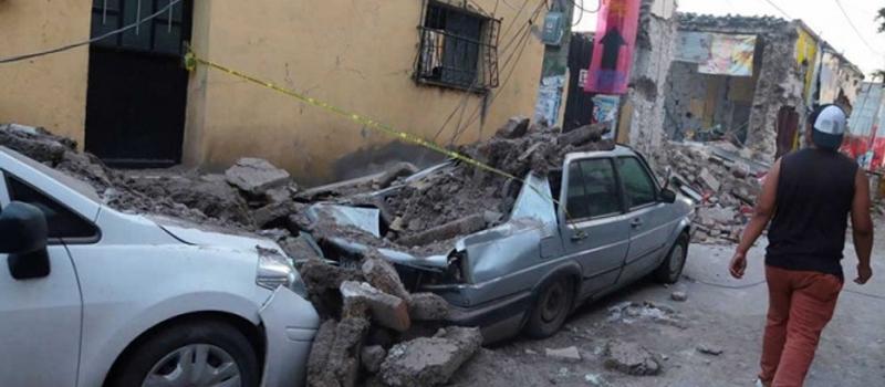 Daños ocasionados por el sismo de ayer en Jojutla, Morelos.