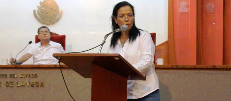 Diputada por Movimiento Ciudadano, Leticia Zepeda Mesina.