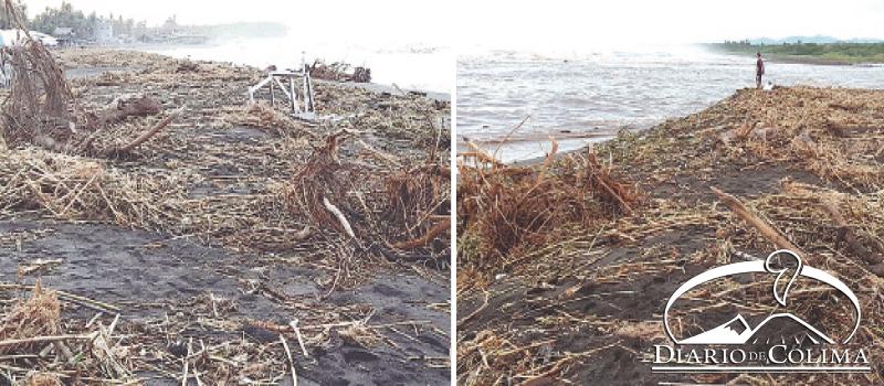 En Boca de Pascuales, los ramaderos piden con urgencia que se implemente el Programa de Empleo Temporal para limpiar la playa.
