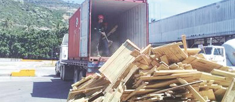 La Procuraduría Federal de Protección al Ambiente interceptó un embarque que llegó al puerto, con embalaje de madera del grupo de las latifoliada proveniente de la India, debido a que estaba infectado por las plagas Sinoxylon anale y Sinoxylon unidentatum.