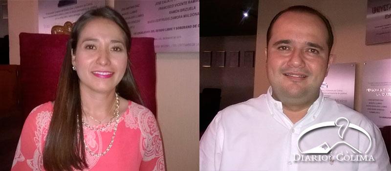 Indira García Pérez, pertenece al tricolor desde 2014, y Christian Velasco al partido blanquiazul 2007
